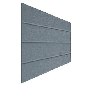 Panels for sectional doors, side caps, aluminium sections