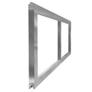 Aluminium full vision sections
